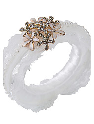 Perle Acryl Hochzeit Servietten-2 Stück / Set Serviettenringe