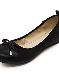 Women's Shoes Synthetic Summer Flats Flats Casual Flat Heel Bowknot Black / Silver / Gold Others