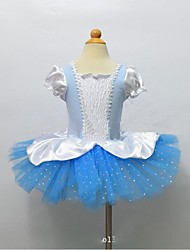 Ballet Dresses Children's Performance Polyester Lace / Sequins 1 Piece Blue Ballet Short Sleeve Natural Dress