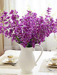 1 1 Ramo Poliéster / Couro Ecológico Outras Flor de Mesa Flores artificiais 26.37inch/63cm