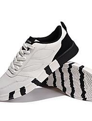 Herren-Sneaker-Lässig Sportlich-Mikrofaser-Flacher Absatz-Komfort-Schwarz Rot Grau