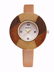 REBIRTH® Women's Simple Fashion Dial PU Leather Strap Quartz Wrist Watch