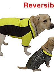 Cat / Dog Coat / Vest Red / Yellow Dog Clothes Winter / Spring/Fall Color Block Reversible / Keep Warm