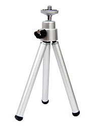 Mini tripod plastic head section aluminum tubes desktop tripod aluminum alloy small mobile phone camera tripod