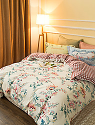 Beige 800TC bedding sets Queen King size Bedlinen printing sheets pillowcases Duvet cover sanding Cotton