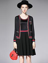 AFOLD® Women's Round Neck Sleeveless Above Knee Dress-6048