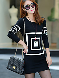 Women's Pattern Color Skirts , Clothing Style Dress Length