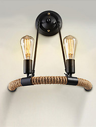 Vintage Contracted Balcony Stair Lamp Semicircle Hemp Rope Wall Lights,Living Room,Bedroom Wall Sconces
