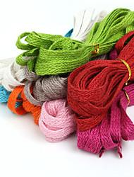 beadia около 10x1.5mm плетеный натуральный джут коноплю шнур для поделок ювелирном решений (5mts)