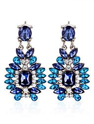 Earring Geometric Jewelry Women Fashion Wedding / Party / Daily / Casual / Sports Crystal / Alloy / Rhinestone 1 pair Silver