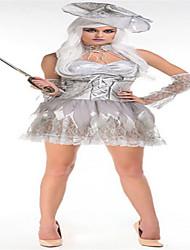 Costumes Zombie Halloween Blanc Couleur Pleine Térylène Jupe / Manche / Chapeau