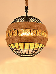 Max 60W Retro Hemp Rope Pendant Lights Living Room Restaurant Pendant Light