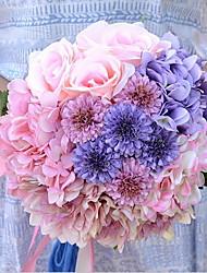 1 1 Ramo Toque real Hortênsia Cesto Flor Flores artificiais 19*19*25