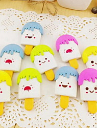 New Creative Cartoon Face Cream Eraser Stationery School Supplies (Random Color)
