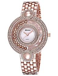 WEIQIN® Women Luxury Bead&Rhinestone Gold Watches Ladies Fashion Quartz Bracelet Watches Relogio Feminino