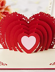 Paper Craft 3D Pop-up Greeting Card For Valentine's day Birthday Party