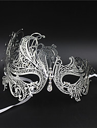 Masquerade  Laser-cut Metal Rhinestone Party Mask Venetian Mask For Women4002A3