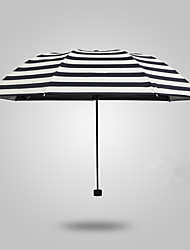Full Automatic High-Grade Sun Umbrella Umbrella Pencil Umbrella Creative Navy Striped Folding Umbrella