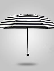Черный / Синий / Розовый Складные зонты Зонт от солнца / Солнечный и дождливой / От дождя Металл / текстиль / силиконовыйАксессуары на