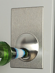 Fridge Magnet Easy Beer Bottle Opener Stainless Steel Refrigerator Openers