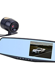 4.3 Inch Screen HD Anti Glare Rearview Mirror Tachograph And Double Vision Recorded Wide-Angle Parking Monitoring