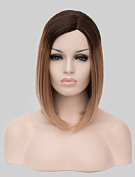 New Arrival Ombre 1B/27 Black Blonde Middle Long Straight Bobo Hair With Middle Bang.
