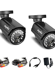 Annke®  2Pcs 800TVL IR Cut 24IR 960H Home Security Surveillance CCTV Cameras