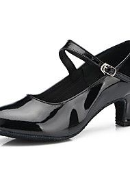 Dance Shoes Suede / Patent Leather Suede / Patent Leather Latin / Modern Heels Stiletto Heel Practice / IndoorBlack