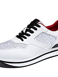 Women's Sneakers Spring / Summer / Fall / Winter Comfort Glitter Athletic / Casual Platform  Black / White Sneaker