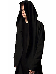 Men's Personality Loose Solid Color Hooded Sweatshirt,Cotton / Polyester Long Sleeve Black / Gray