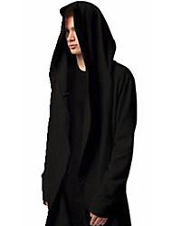 Pull à capuche & Sweatshirt Pour des hommes Couleur plaine Décontracté / Grandes Tailles Coton / Polyester Manches longues Noir / Gris