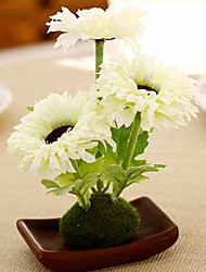 Hi-Q 1Pc Decorative  Real Touch Smallflower Galinsoga  Flower Wedding Home Table Decoration Artificial Flowers