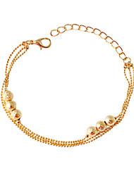 Bracelet Chaînes & Bracelets Alliage Forme de Cercle Mode Bijoux Cadeau Doré,1pc