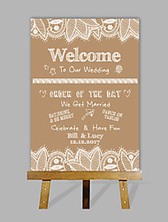 E-HOME Personalized Custom Wedding Desktop Indicator Wedding Gift Decoration Custom Name And Date (Contain Wood Easel)