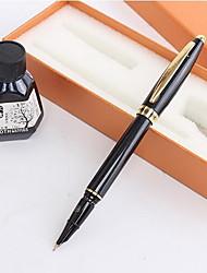 Caneta Caneta Canetas Caneta,Metal Papel Barril Preto cores de tinta For material escolar Material de escritório Pacote de