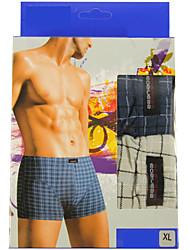 New Fashion Men's Cotton Underwear Health 4Colour(2 Pcs/Box)