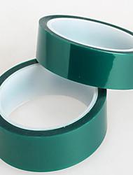 verde 2 cm * 33 m resistente de alta temperatura fita de alta temperatura chapeamento cobriu 180 ℃ pet banda de silicone