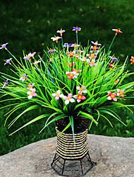 Hi-Q 1Pc Decorative Flowers Four-Leaved Clover Wedding Home Table Decoration Artificial Flowers