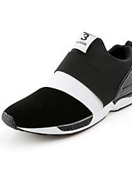 Herren-Sneaker-Lässig-Kunststoff-Flacher Absatz-Komfort-Schwarz Blau Schwarz und Rot Schwarz und Weiss