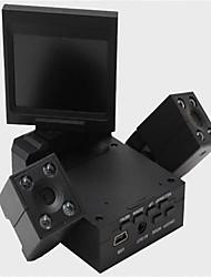 Transformadores de condução gravador de dupla afixação HD lente rotativa de 360 graus de ângulo ultra larga