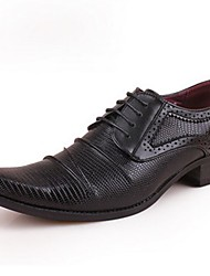 Men's Oxfords Formal Shoes Patent Leather Spring Summer Fall Winter Casual Outdoor Office & Career Party & Evening Formal Shoes Black Ruby
