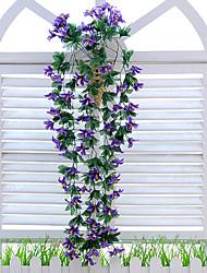 1 1 Une succursale Polyester / Plastique Lis Guirlande et Fleur Murale Fleurs artificielles 31.4inch/80cm