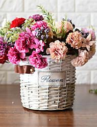 1 1 Ramo Plástico Cravo Flor de Mesa Flores artificiais 13.7inch/35cm