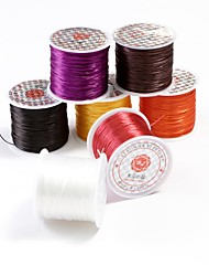 50M 5pcs/lot Crystal Beads Lines Elastic Cord Stretchy String Jewellery Cord Rolls Polyester Embroidery Sewing Thread