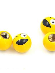 accesorios de automóviles poner el tapón de la válvula en general, una cara de la válvula creativa, casquillo de válvula del neumático
