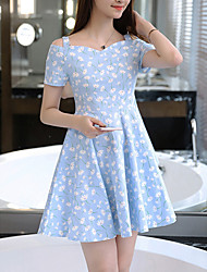 Women's Going out / Casual/Daily Cute / Street chic A Line Dress,Floral Strap Above Knee