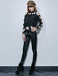 le punk rave k-220 millésime femmes / sexy / moulantes extensible pantalon skinny moyennes