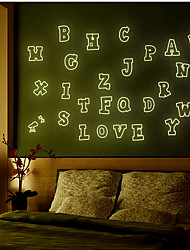 Selling Fashion Diy Luminous Wall Sticker Fluorescent Stick Cartoon Children Room Bedroom English Letter
