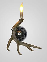 luzes chifre do vintage luzes de parede país 1-luzes materiais de resina de fácil instalação