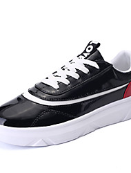 Da uomo-Sneakers-Sportivo-Comoda-Piatto-Tulle-Nero Bianco